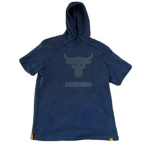 under armour x project rock terry s/s hoodie